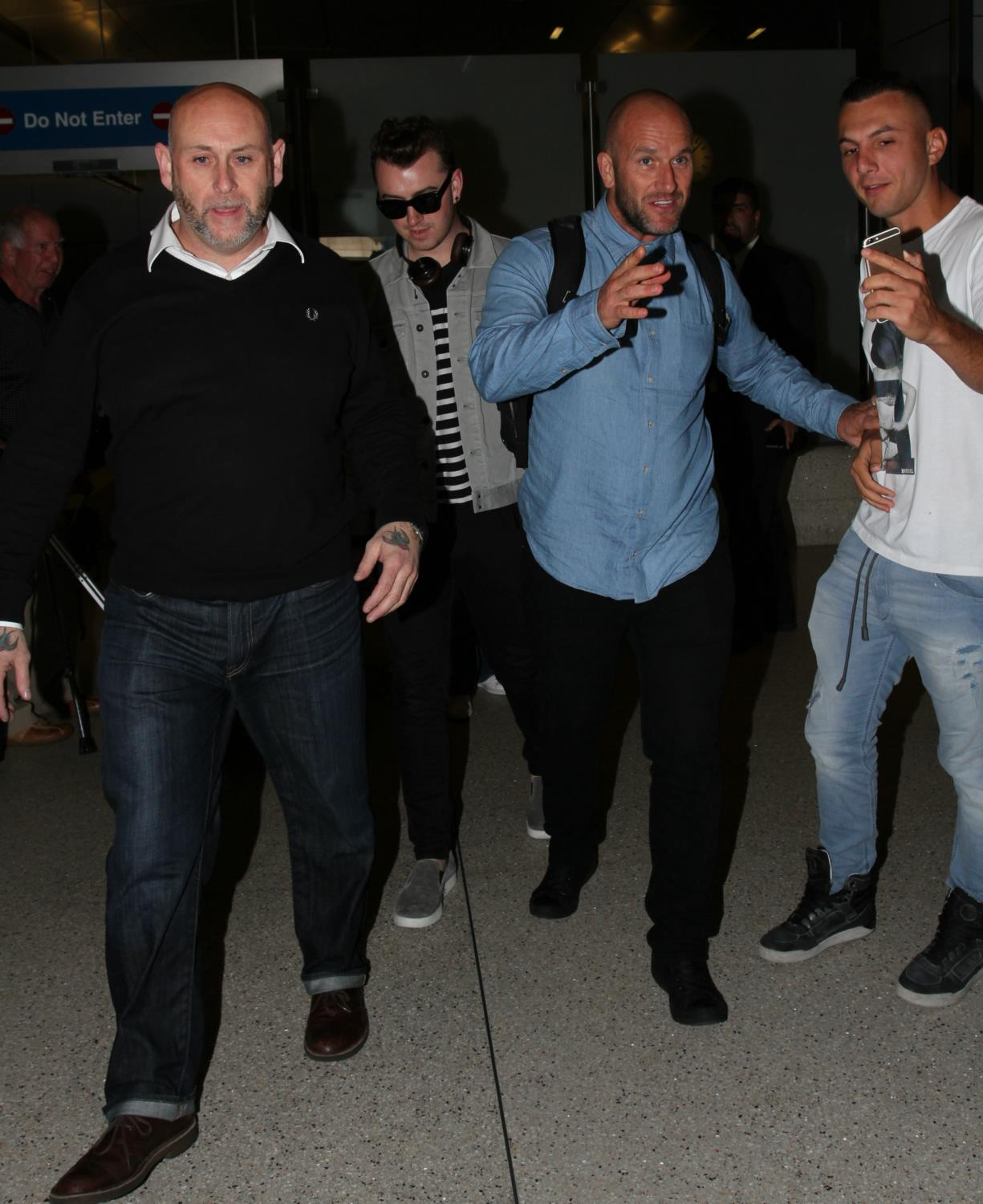 Sam Smith Arrives at LAX Airport-3