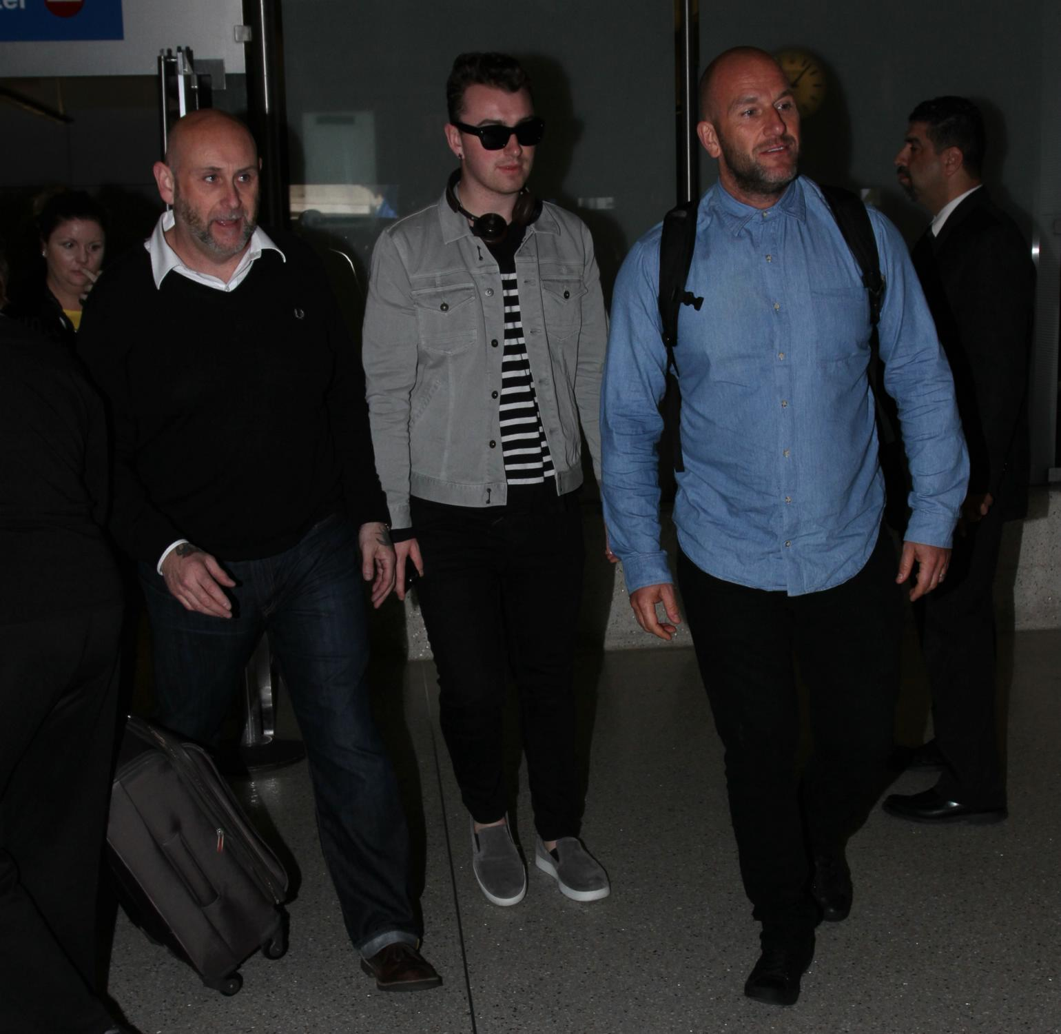 Sam Smith Arrives at LAX Airport-4