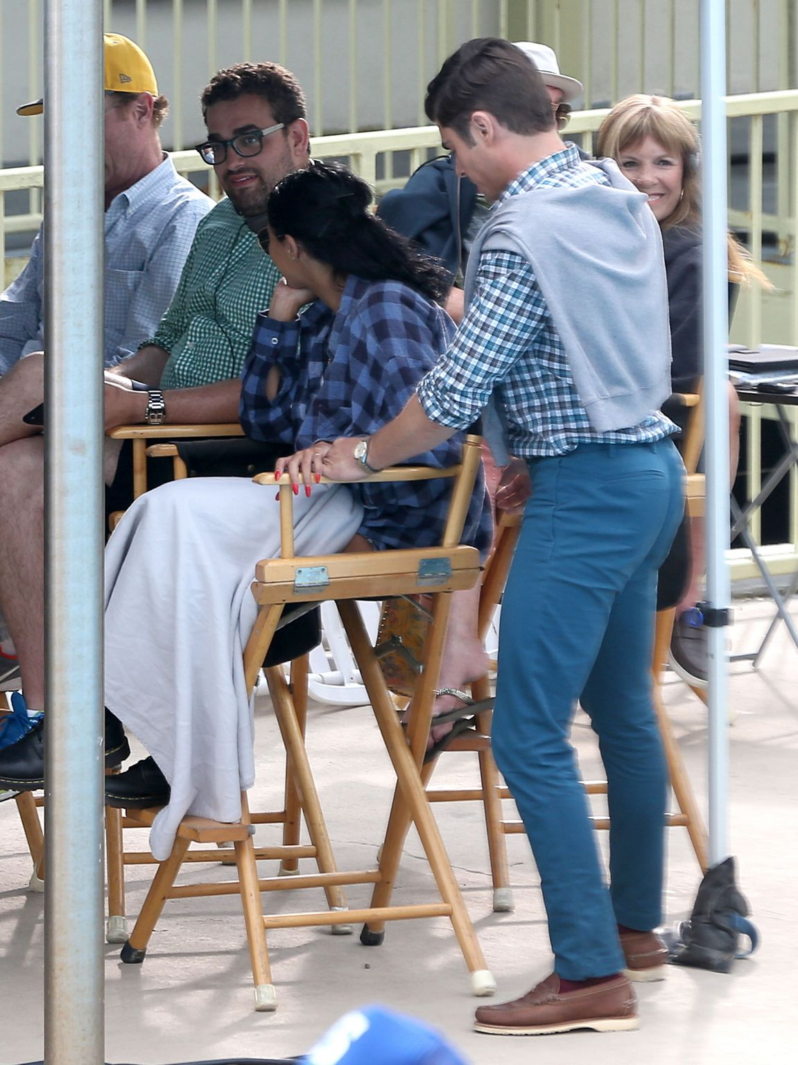 Sami Miro Visits BF Zac Efron On The Set Of Dirty Grandpa-1