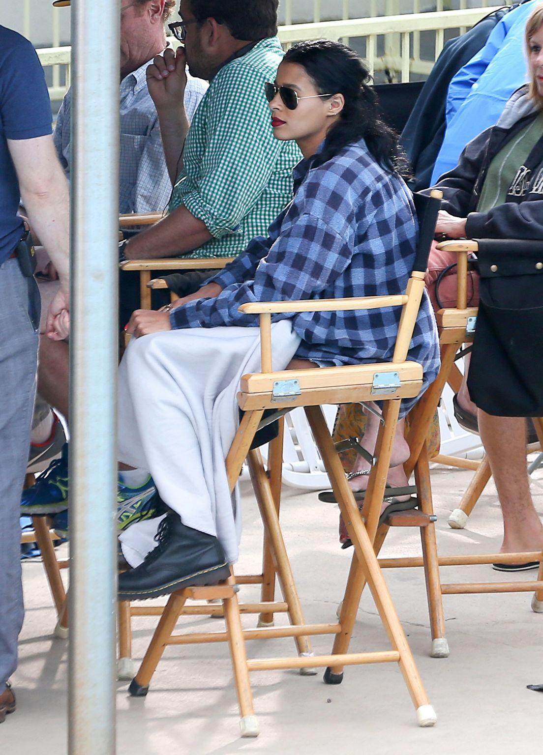 Sami Miro Visits BF Zac Efron On The Set Of Dirty Grandpa-3