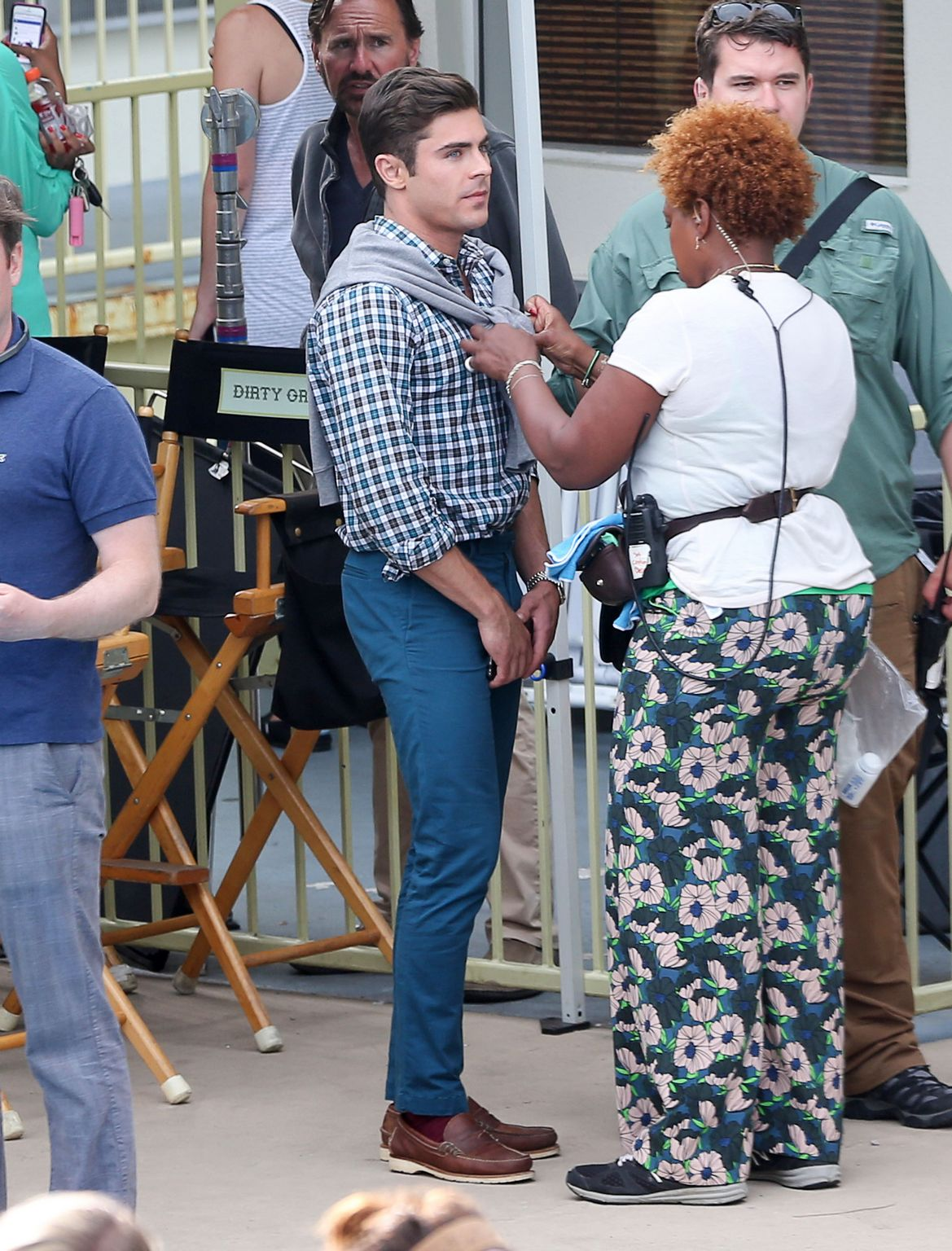 Sami Miro Visits BF Zac Efron On The Set Of Dirty Grandpa-4