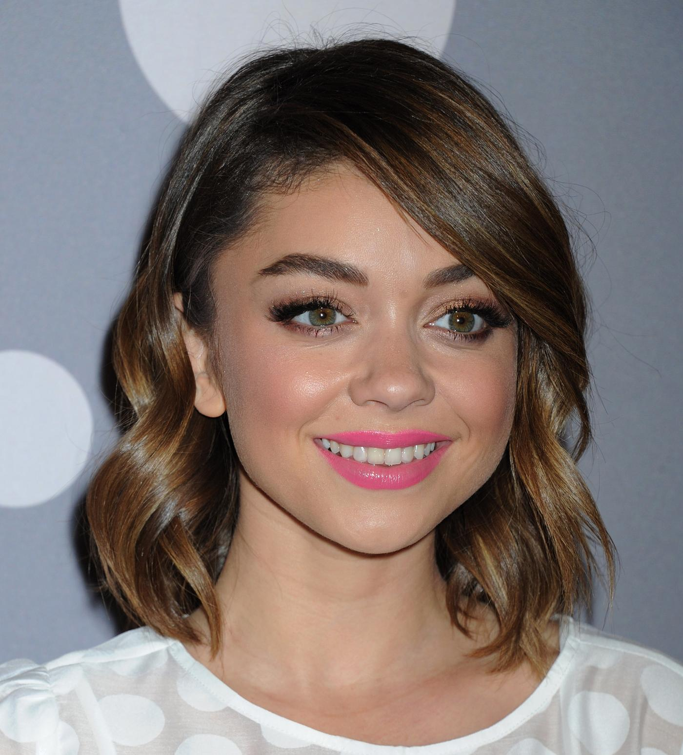 Sarah Hyland arrives at Minnie Mouse Rocks The Dots Art and Fashion Exhibit Jan nd-1