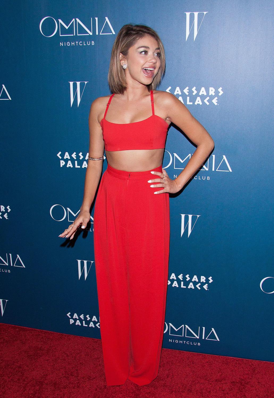 Sarah Hyland attendse grand opening weekend at Omnia Nightclub-2