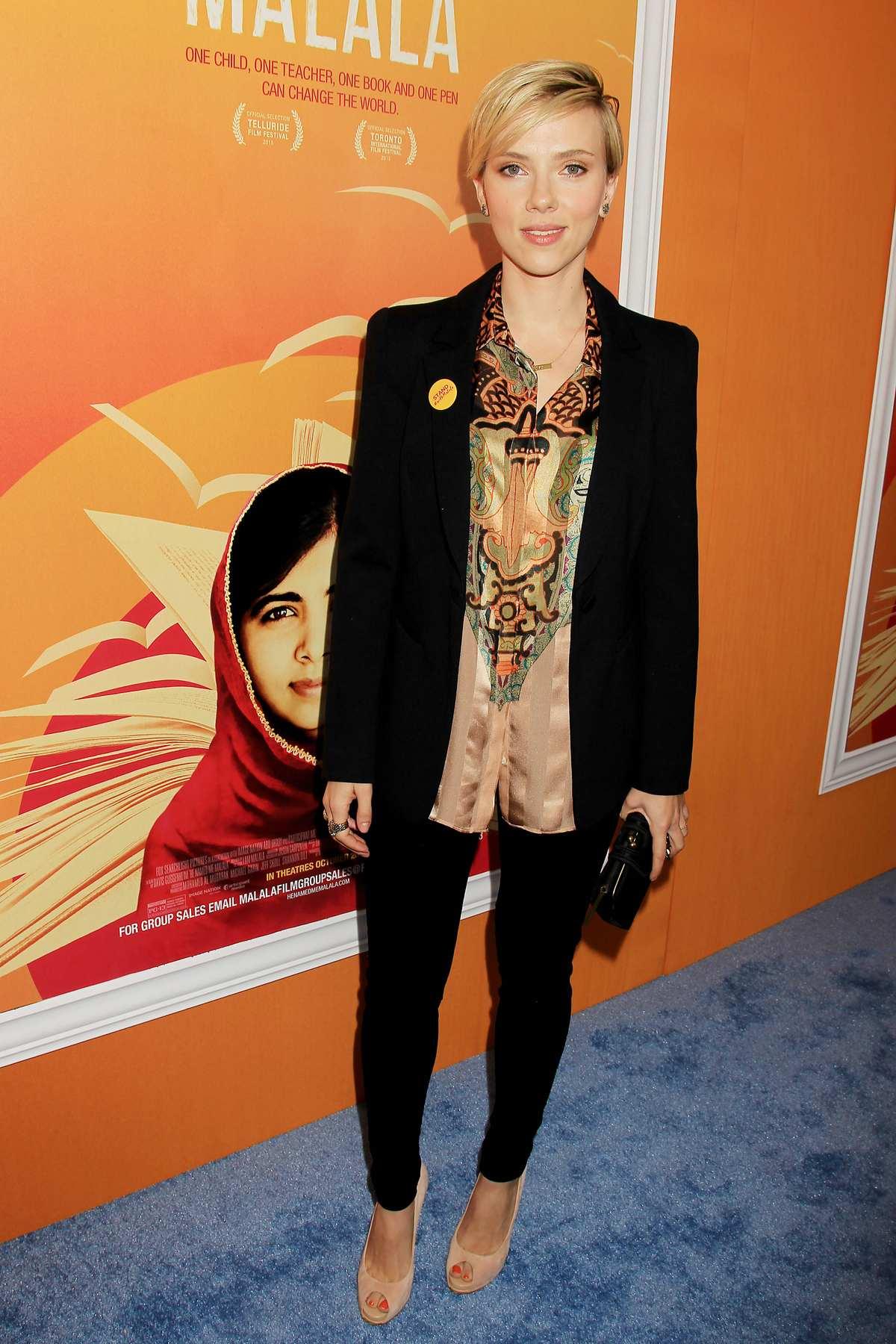 Scarlett Johansson at Malala NY Premiere-1