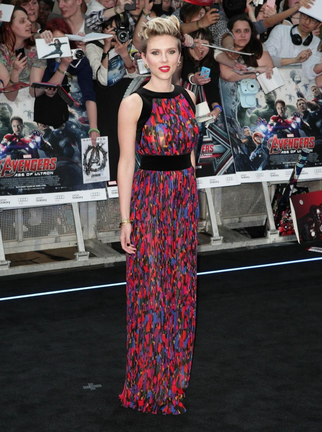 Scarlett Johansson at The Avengers: Age Of Ultron European Premiere-1