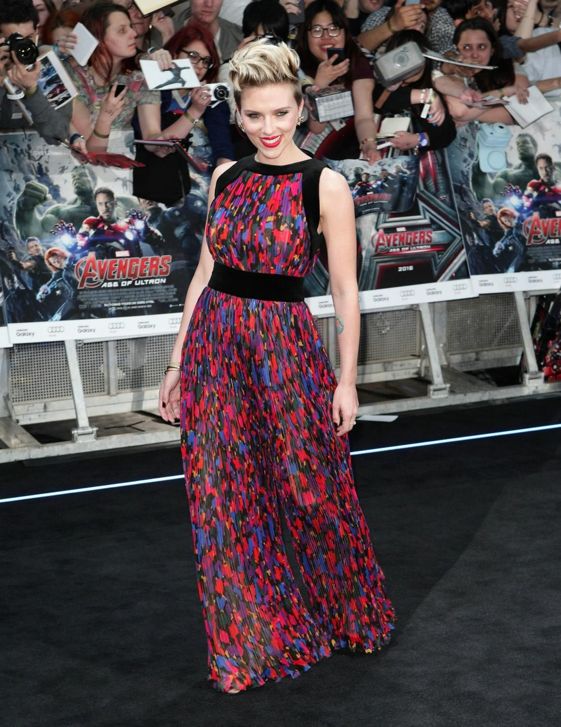 Scarlett Johansson at The Avengers: Age Of Ultron European Premiere-2