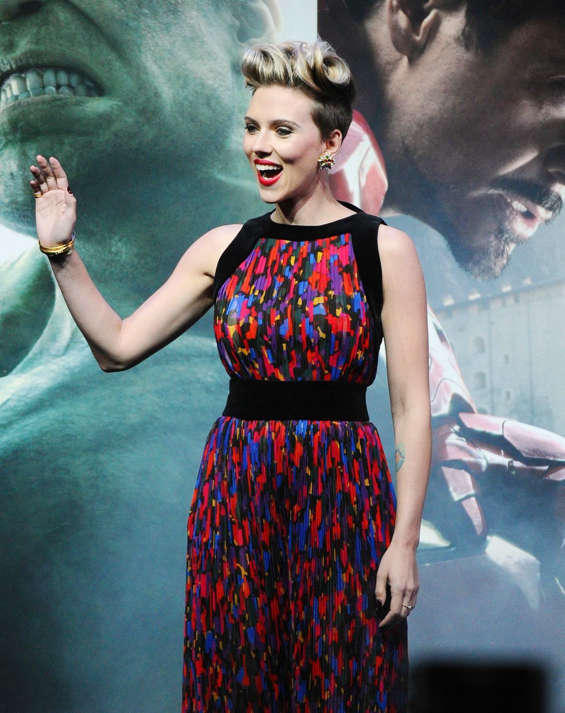 Scarlett Johansson at The Avengers: Age Of Ultron European Premiere-3