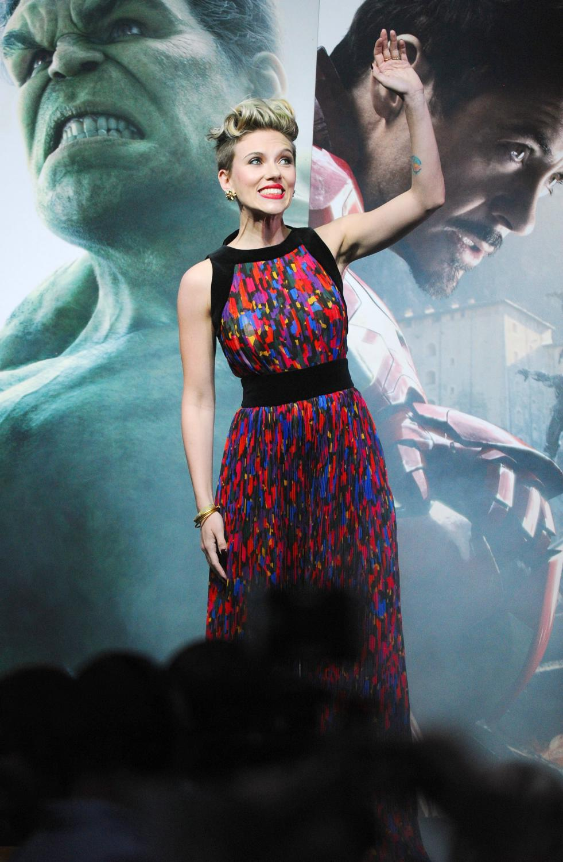 Scarlett Johansson at The Avengers: Age Of Ultron European Premiere-4