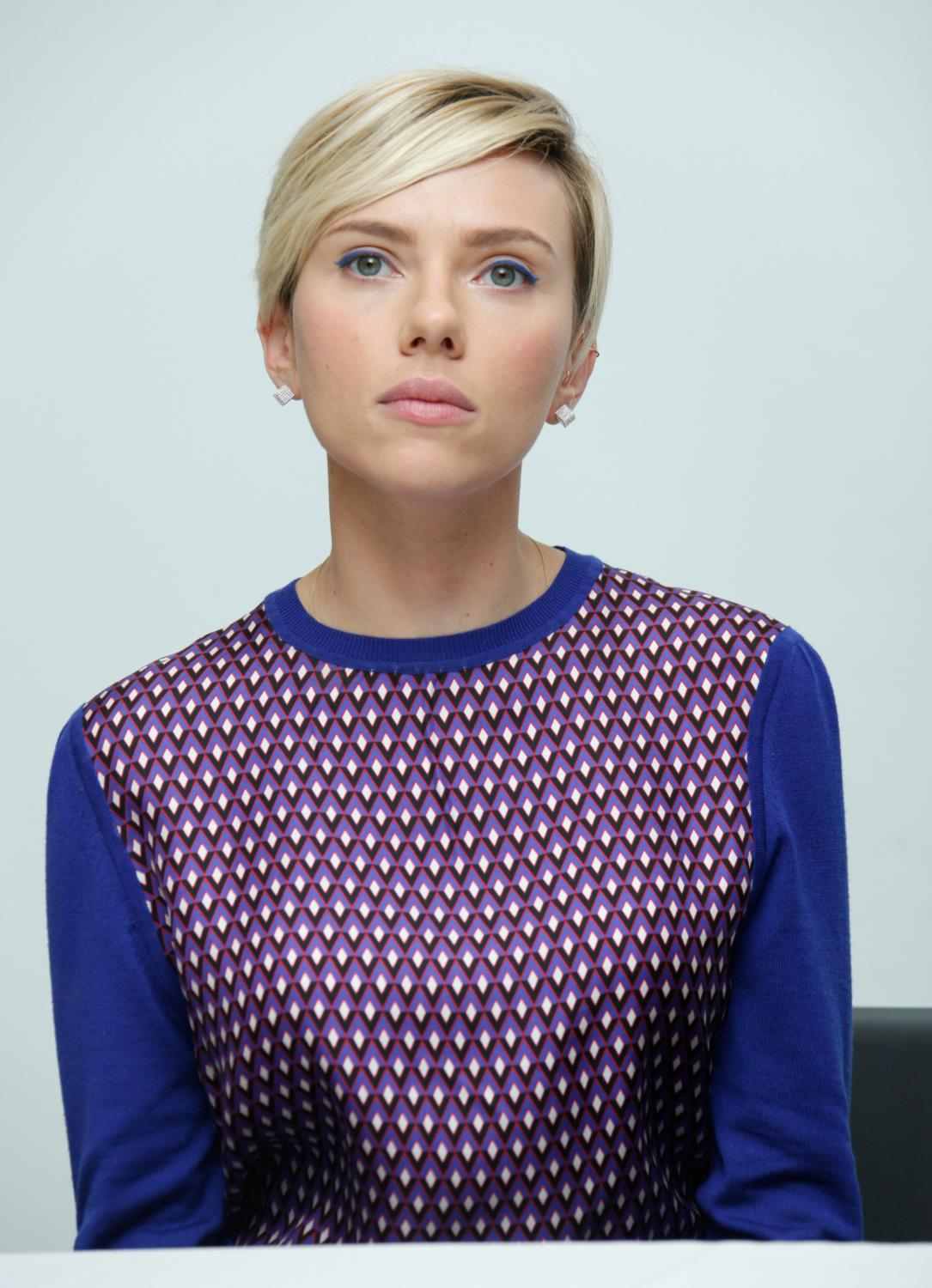 Scarlett Johansson at The Avengers: Age of Ultron Press Conference-1