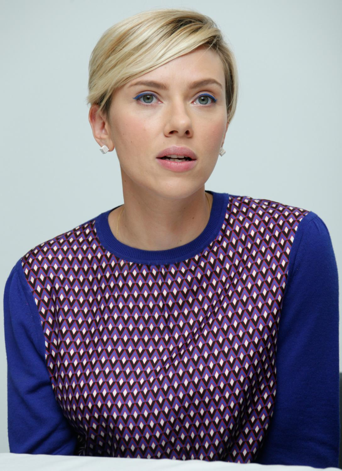 Scarlett Johansson at The Avengers: Age of Ultron Press Conference-3
