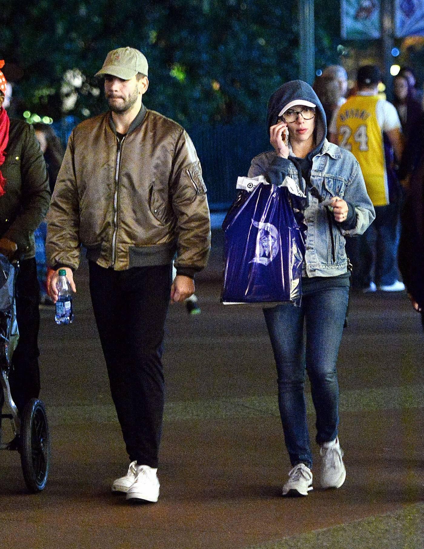 Scarlett Johnasson is seen at Disneyland Jan nd-1