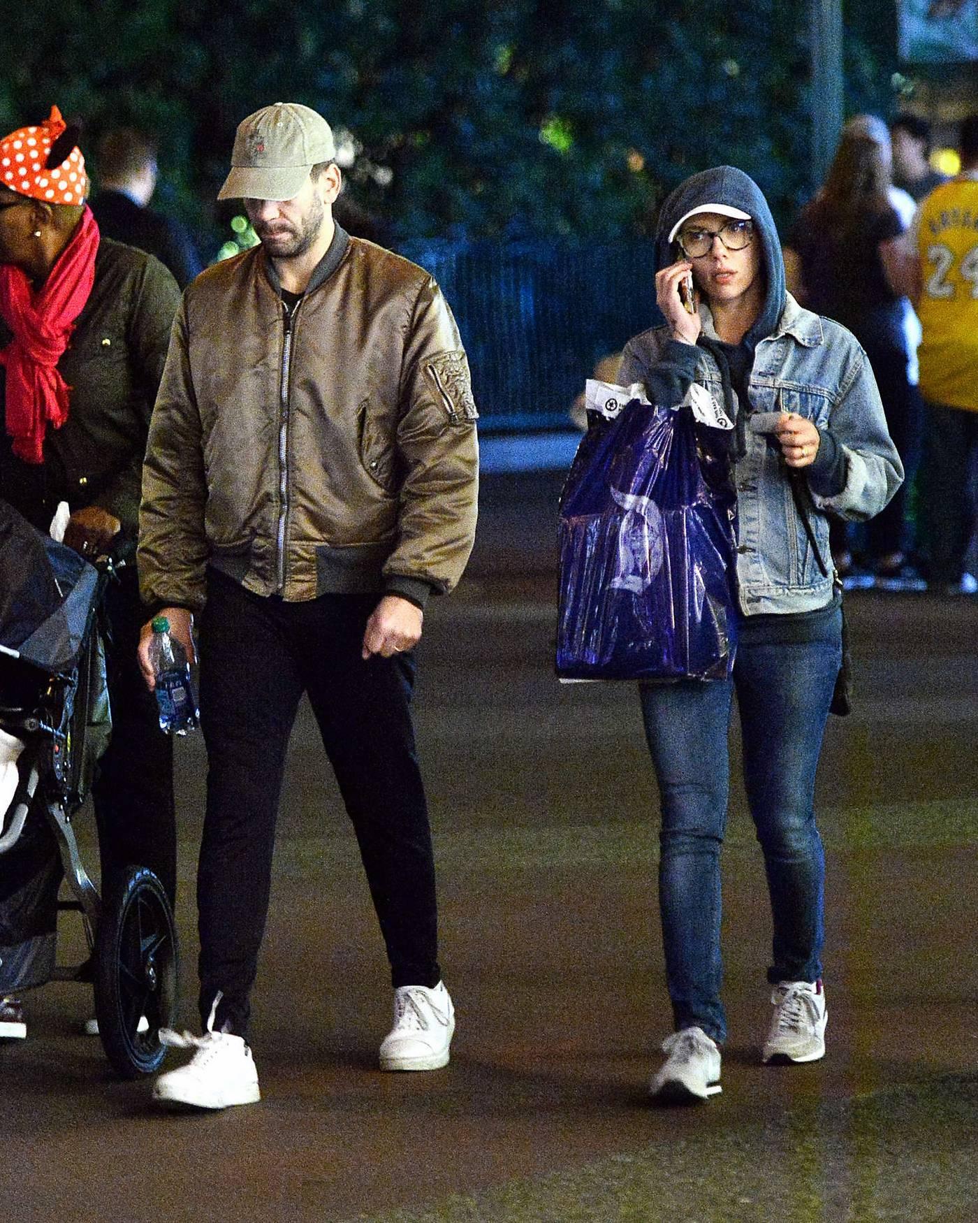 Scarlett Johnasson is seen at Disneyland Jan nd-2