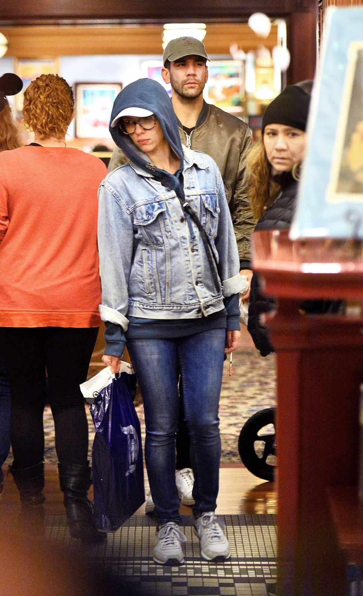 Scarlett Johnasson is seen at Disneyland Jan nd-3