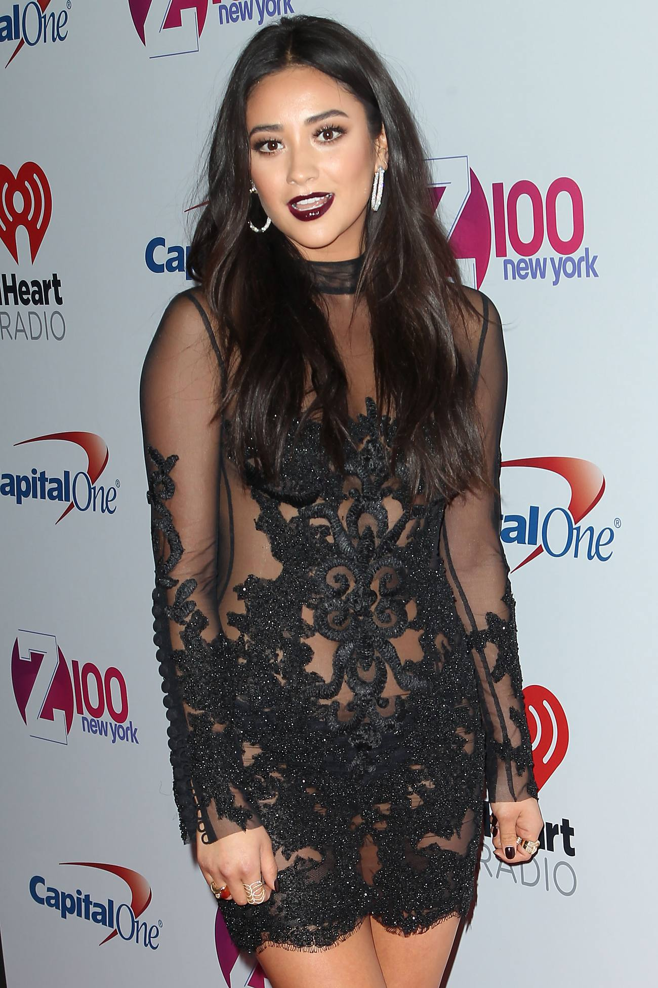 Shay Mitchell arrives at iHeart Radio and Zs Jingle Ball-2