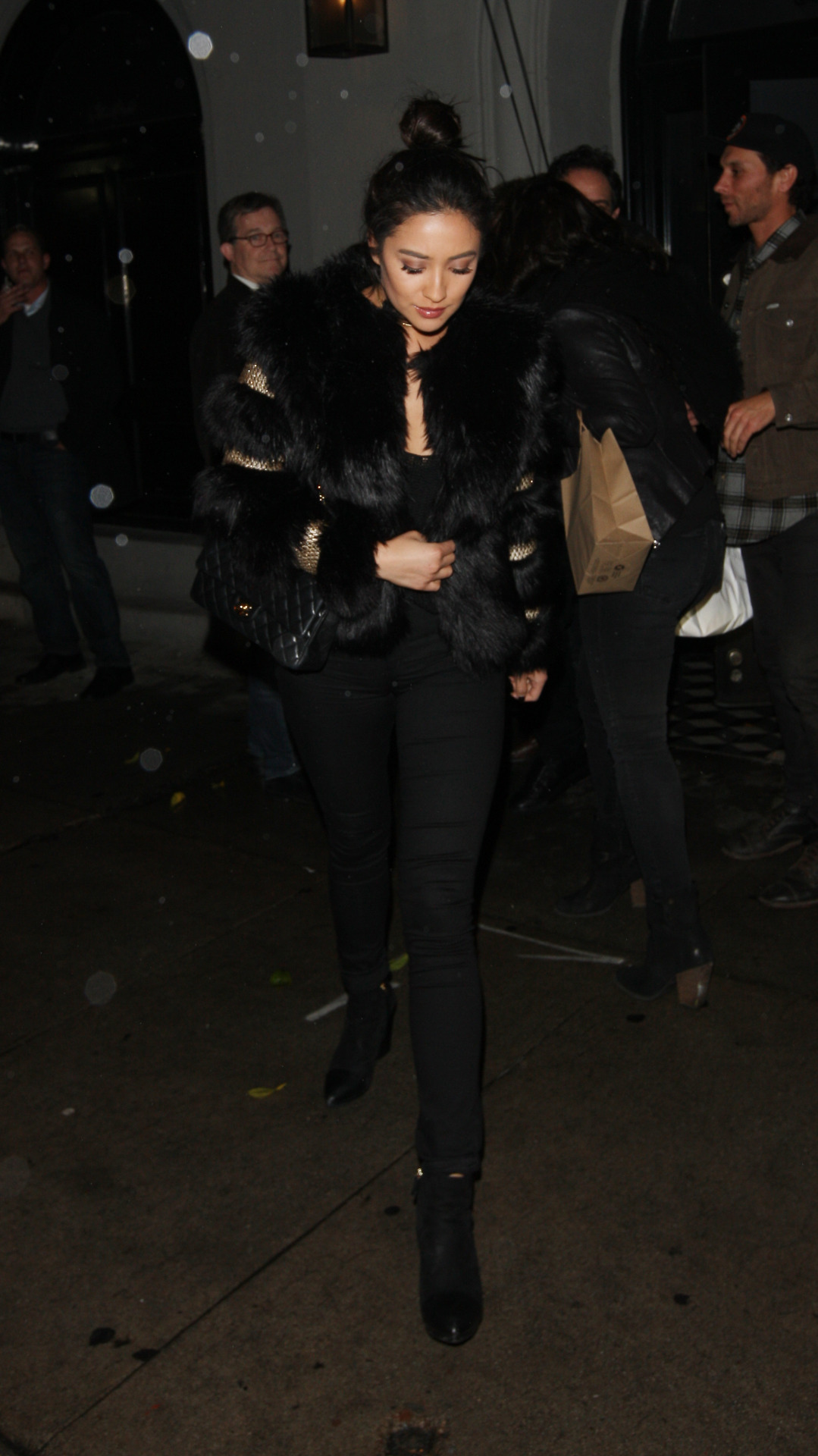 Shay Mitchell leaves Craigs in West Hollywood Dec-2