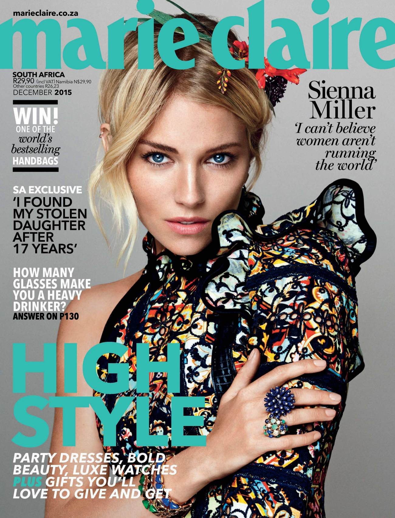 Sienna Miller for Marie Claire Magazine South Africa Issue-1