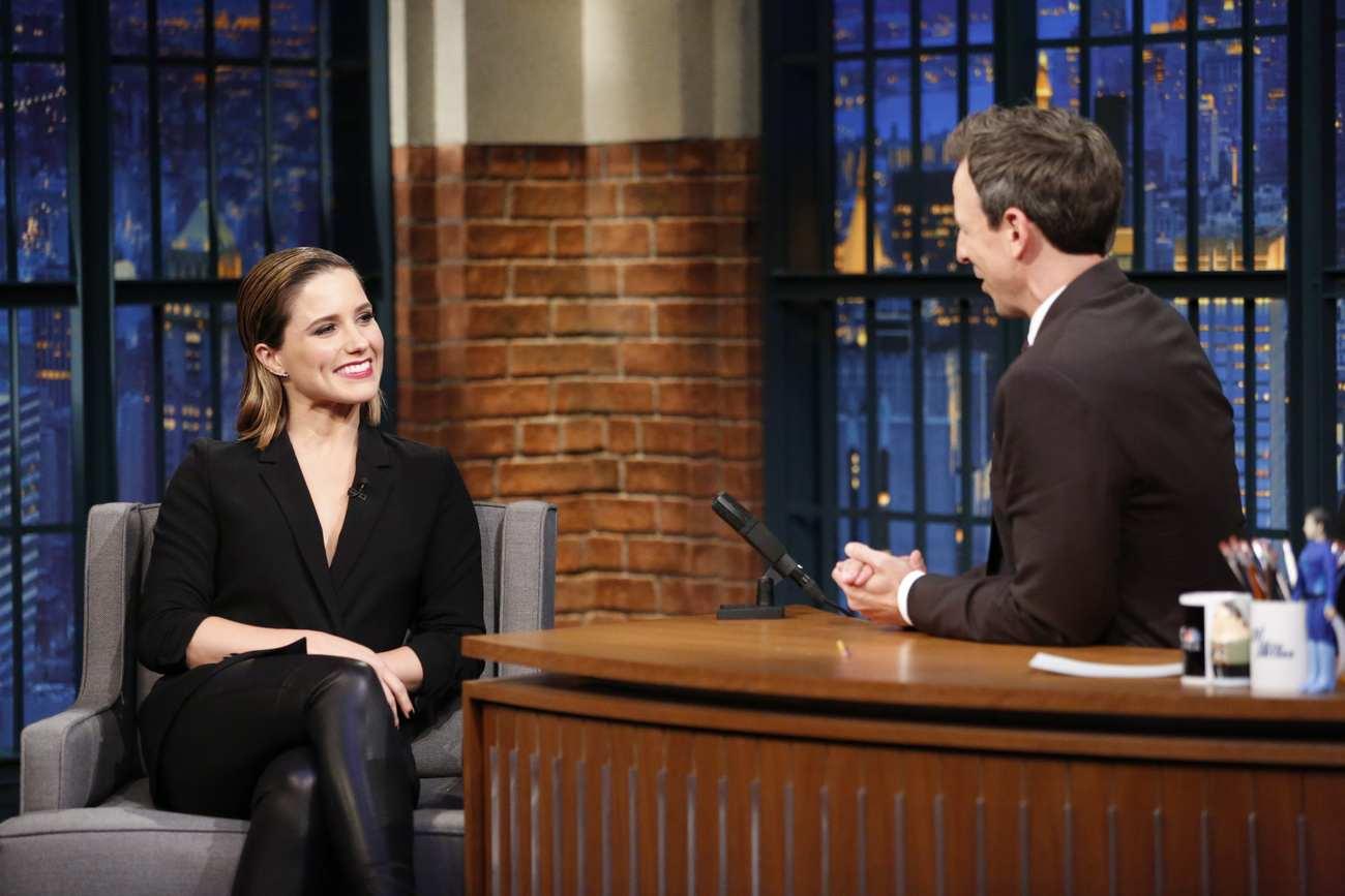 Sophia Bush Interviews With Seth Meyers-2