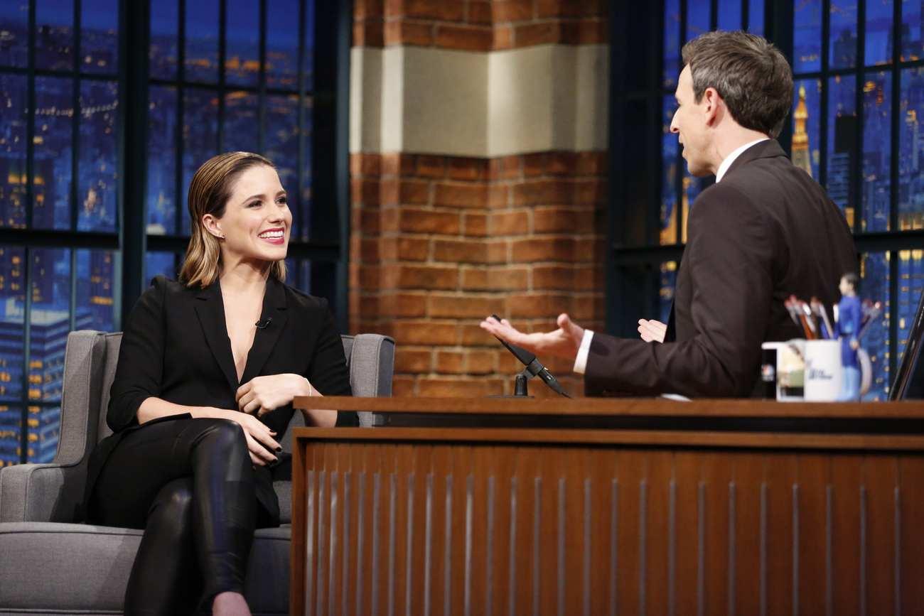 Sophia Bush Interviews With Seth Meyers-4