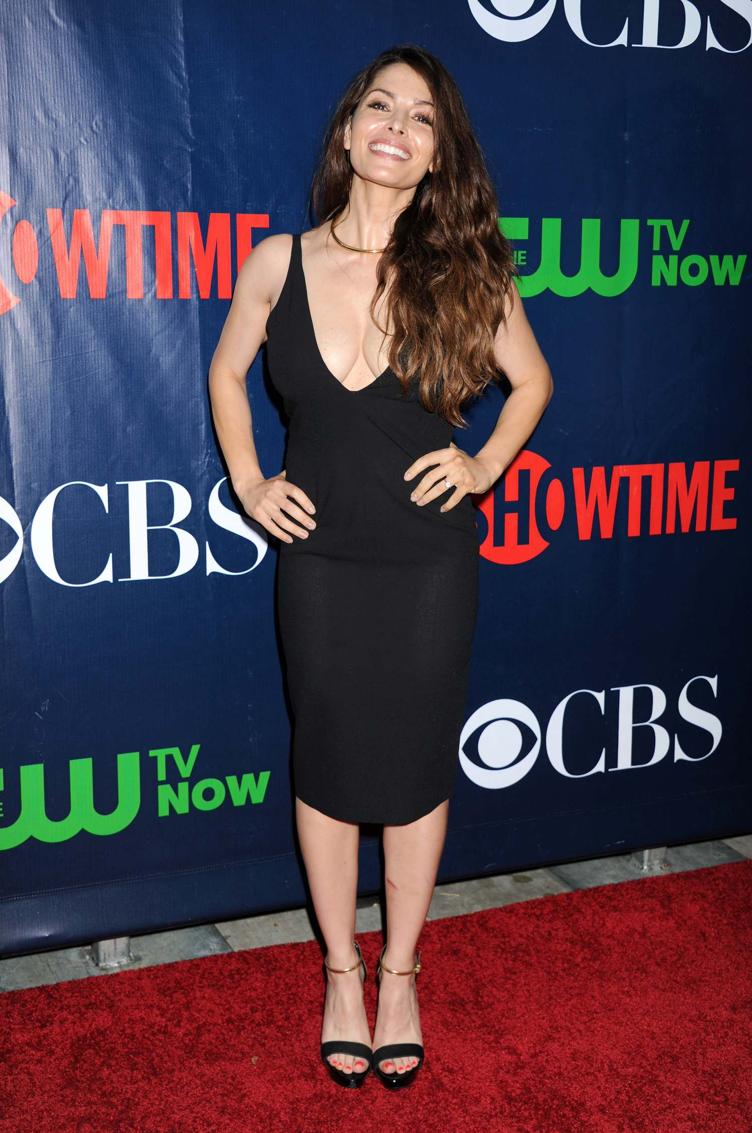 Steven Howey and wife Sarah Shahi at CBS Showtime and CW TCA Party-1
