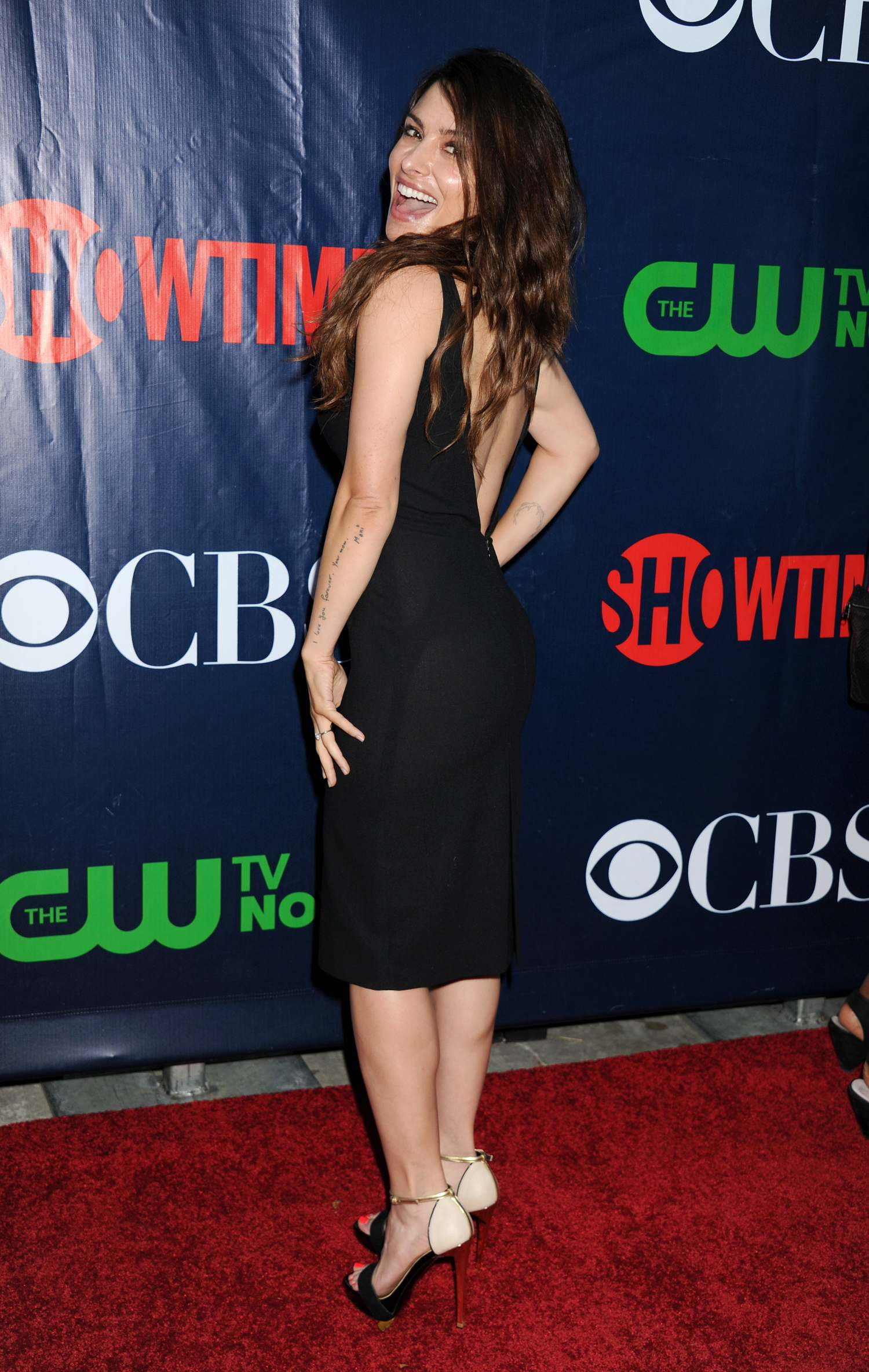 Steven Howey and wife Sarah Shahi at CBS Showtime and CW TCA Party-2