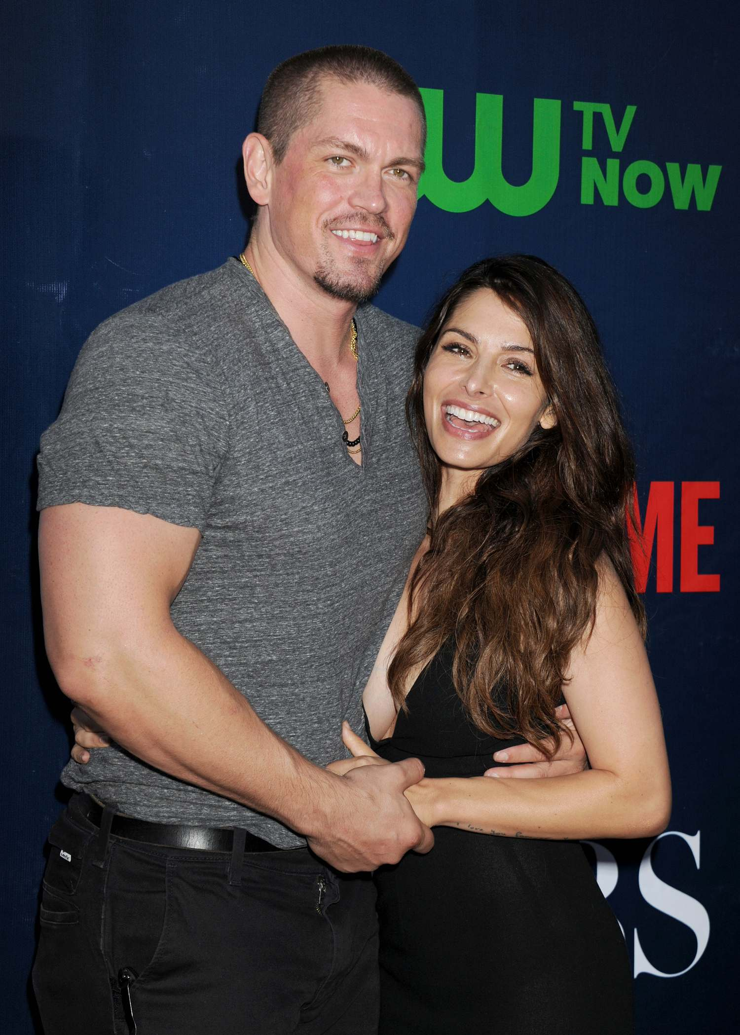 Steven Howey and wife Sarah Shahi at CBS Showtime and CW TCA Party-3