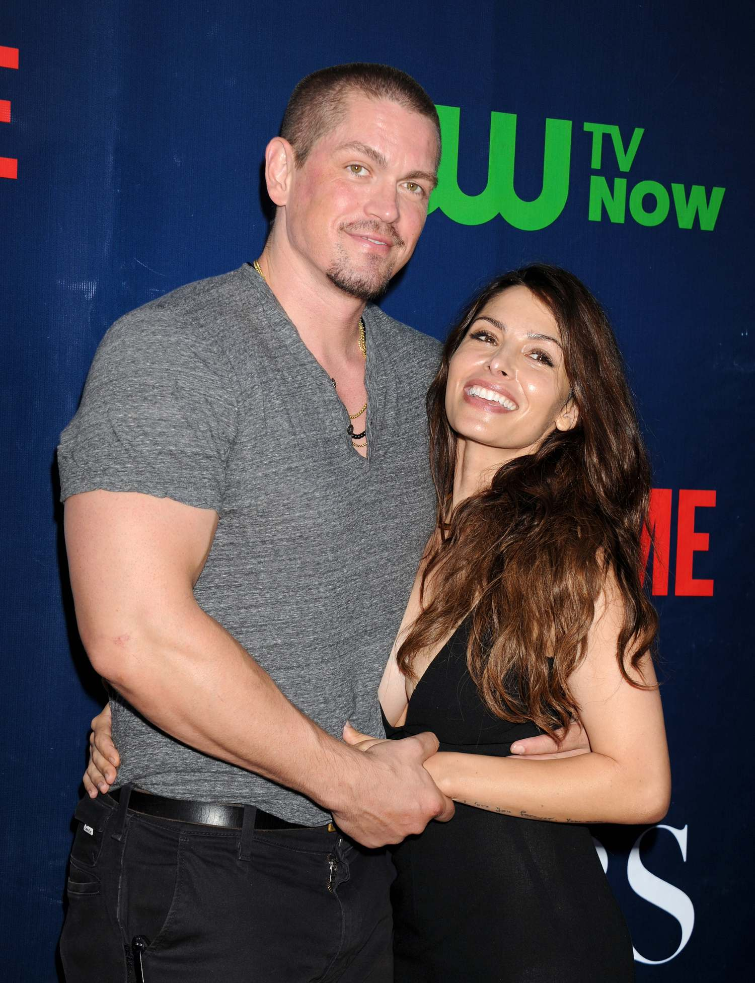Steven Howey and wife Sarah Shahi at CBS Showtime and CW TCA Party-4