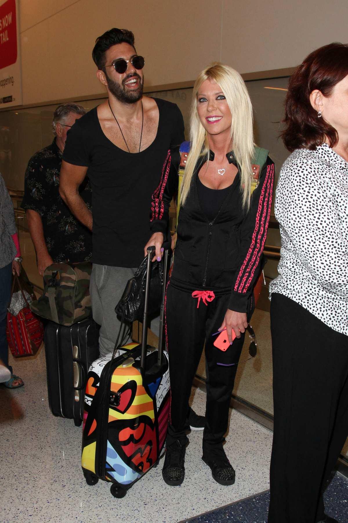 Tara Reid and Yavuz Cansiz Seen at LAX Airport-1