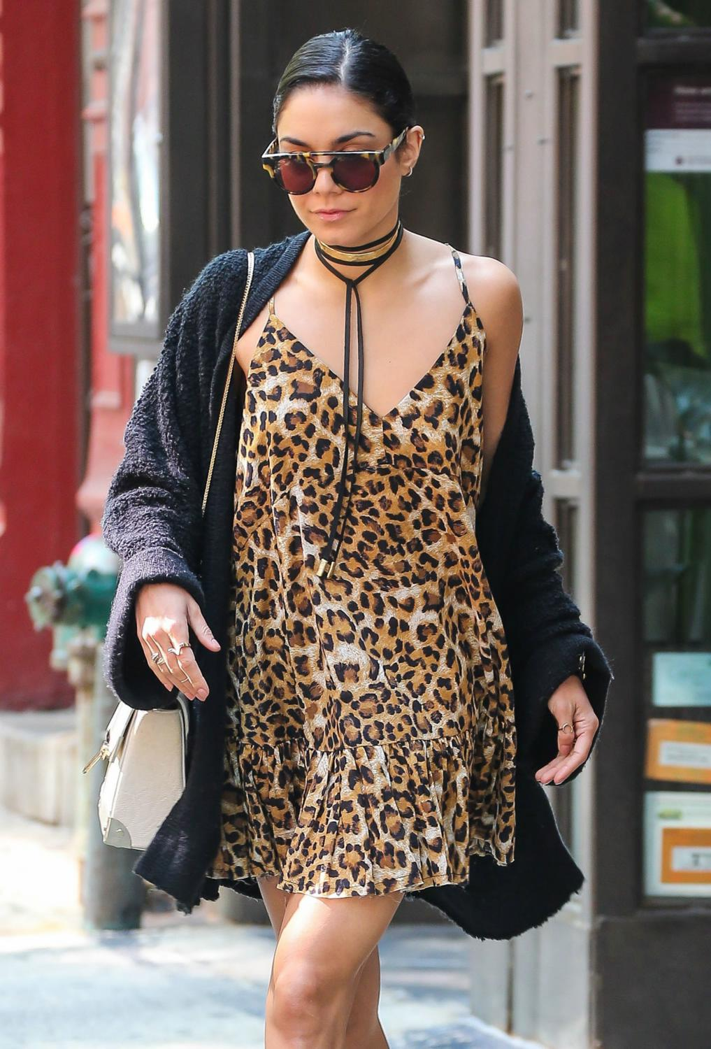 Vanessa Hudgens Leaving Her Apartment in NYC-1