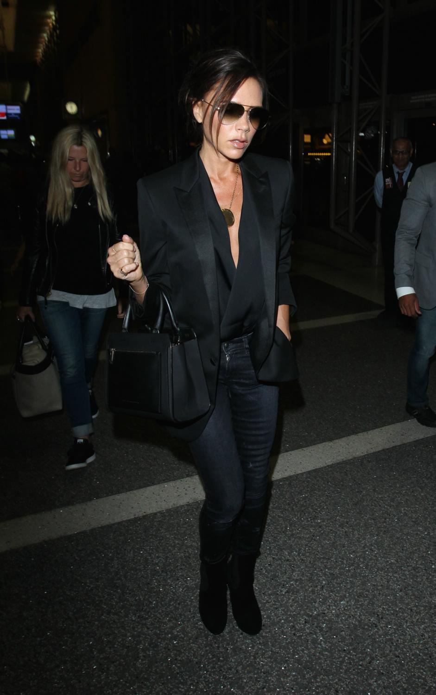 Victoria Beckham is seen making her wayrough LAX Airport-1