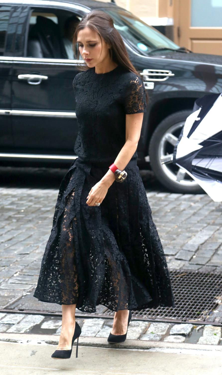 Victoria Beckham Leaves Her Hotel in NYC-1