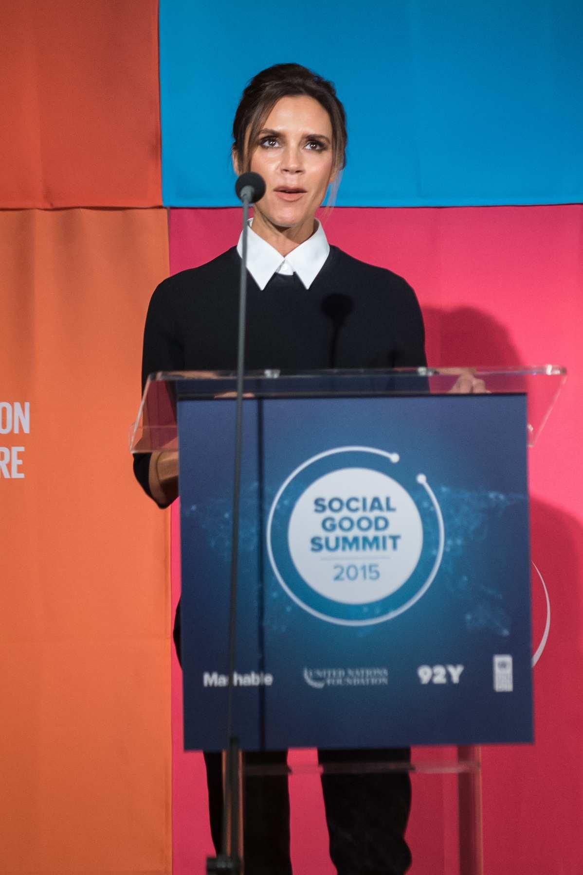 Victoria Beckham Makes Speech at Social Good Summit-1