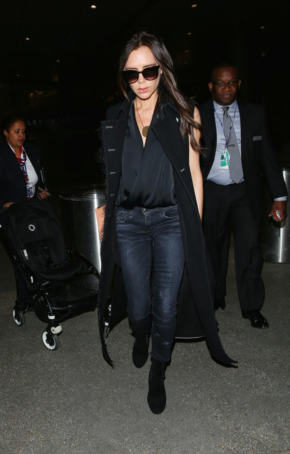 Victoria Beckham Seen Arriving at LAX Airport-1