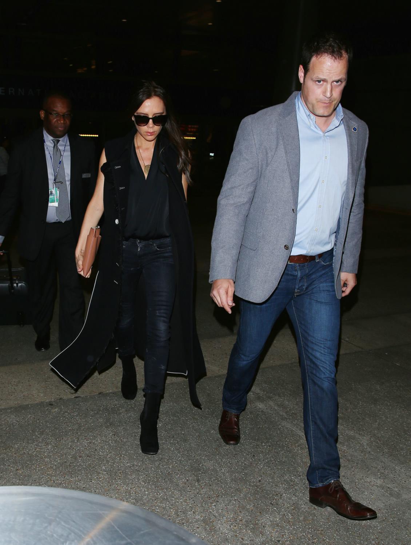 Victoria Beckham Seen Arriving at LAX Airport-2