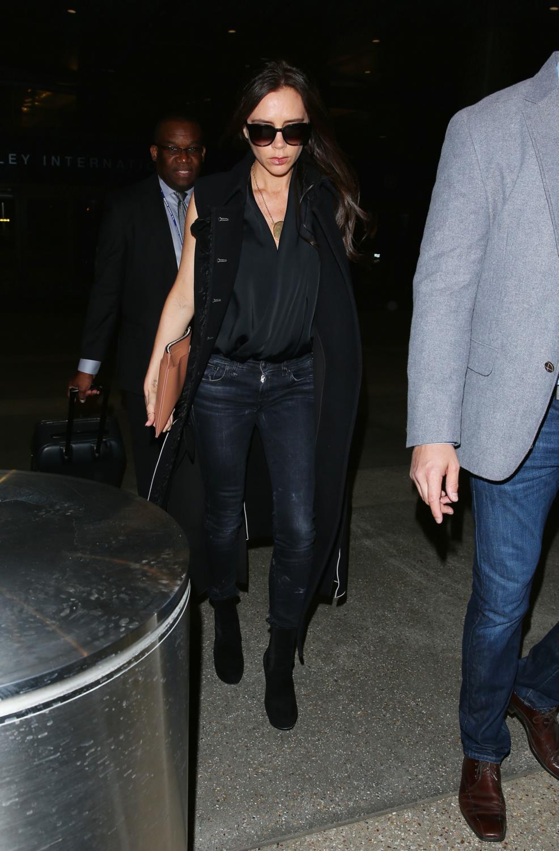 Victoria Beckham Seen Arriving at LAX Airport-3