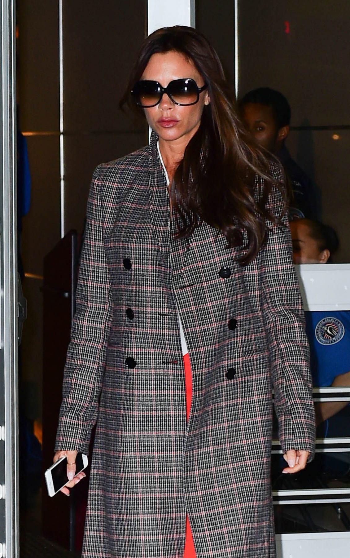 Victoria Beckham Seen at JFK Airport-1