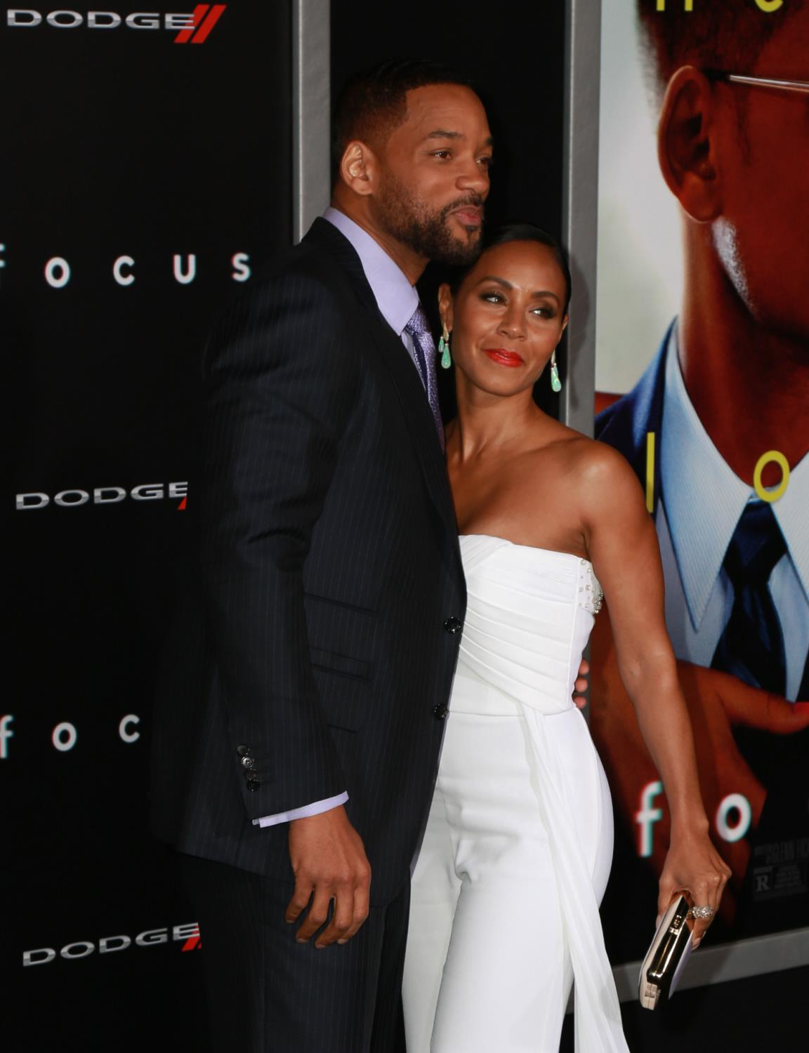 Will Smith and Jada Pinkett Smith Gets Cozy at Focus Premiere-1