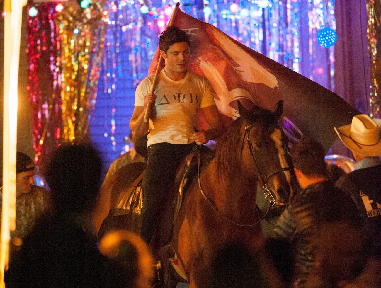 Zac Efron Is Seen Riding A Horse Om The Set of Neighbors-4