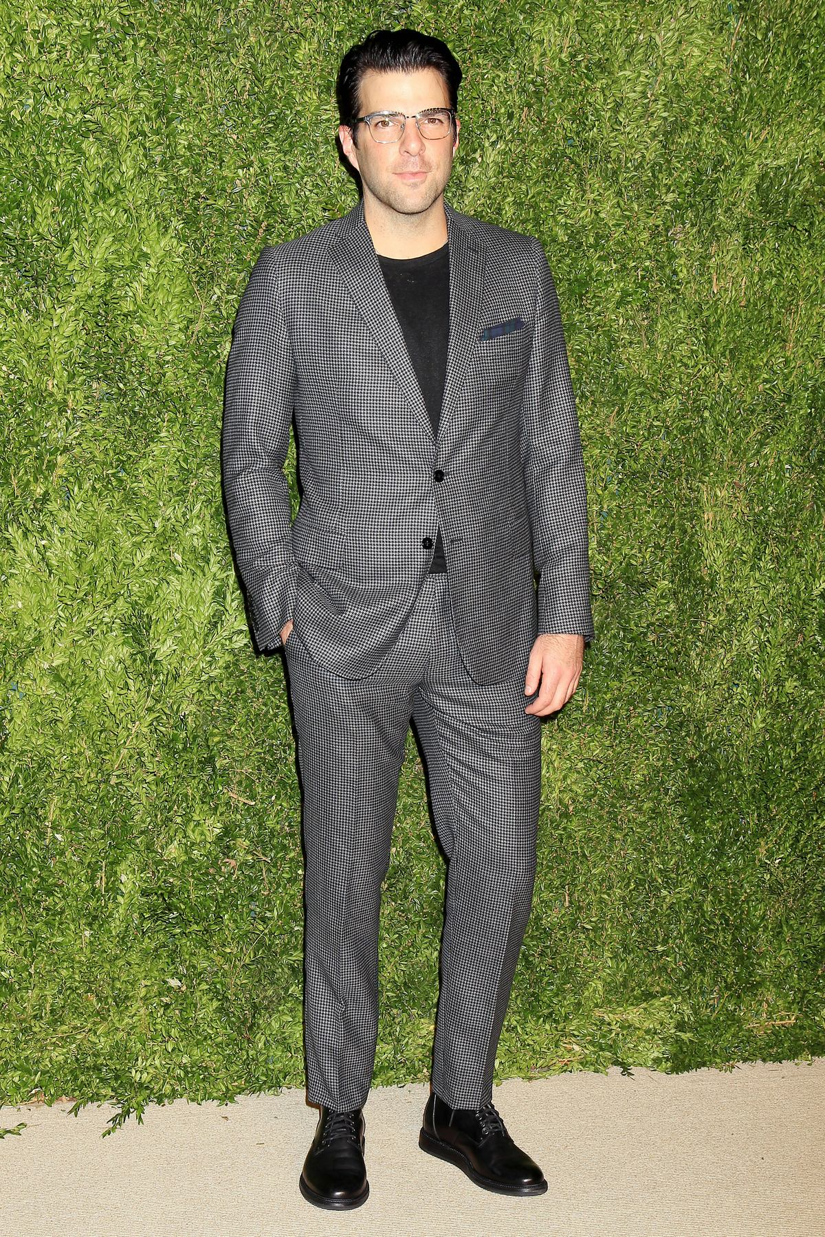 Zachary Quinto arrives at The Twelfth Annual CFDAVouge Fashion Fund Awards
