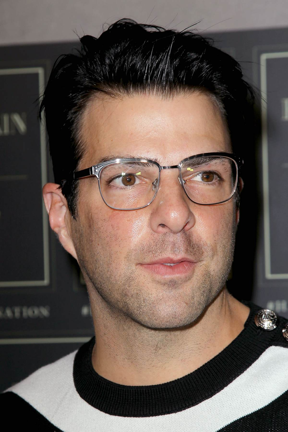 Zachary Quinto at Balmain x HandM Collection Launch Event